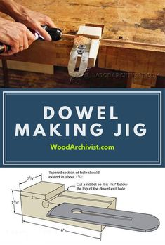 Dowel Making Jig - Joinery Tips, Jigs and Techniques | WoodArchivist.com #woodworkingtools