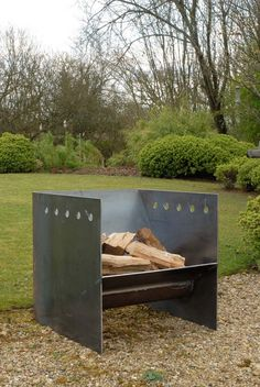 Superchunk fire pit artisan contemporary modern metal firepit www.magmafirepits.co.uk