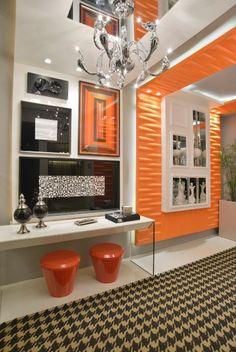 Black and orange color scheme