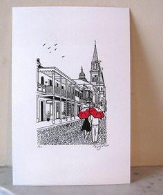 New Orleans gocco print