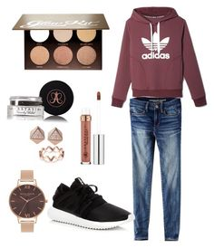 """""""Untitled #74"""" by zandria1 on Polyvore featuring adidas, American Eagle Outfitters, Anastasia Beverly Hills, FOSSIL and Olivia Burton"""