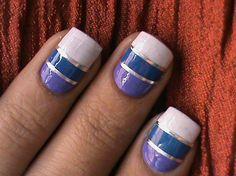 Striping nail art design - Nail Art Gallery nailartgallery.nailsmag.com by NAILS Magazine www.nailsmag.com