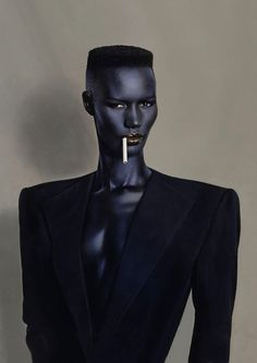 Grace Jones -well known cross-dresser, singer-songwriter, actress, and model- by Jean-Paul Goude. Grace Jones, Ms Jones, Foto Portrait, Portrait Photography, Fashion Photography, Beauty Portrait, Vintage Photography, Mode Inspiration, Character Inspiration