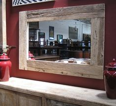 Reclaimed Wood Elm Mirror Frame from Mix Furniture on La Brea