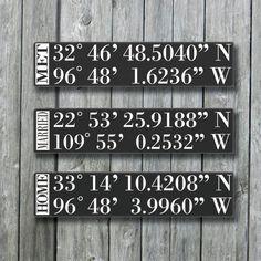 Personalized GPS Sign,GPS Coordinates Tell Your Love Story,Latitude Longitude,Wedding Gift,Engagement Gift,Custom Wood Sign,Important Dates on Etsy, $90.00