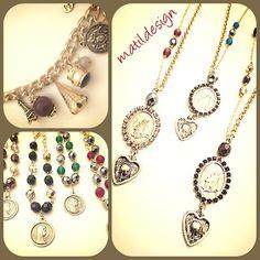 Fashion necklaces, collane, rosarietti, moda italian, Made in Italy, bijoux, Matildesign