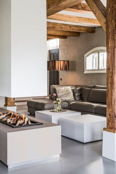 Modern Home Decor Tips For A Beautiful Living Space Living Room Themes, New Living Room, Home And Living, Living Spaces, Interior Decorating, Interior Design, Interior Architecture, Country Interior, Modern Fireplace