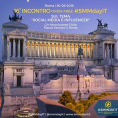 #SMMdayIT #Events | Partecipa anche tu agli incontri 'open-free' di @smmdayit con @albaneseandrea! Il 30 settembre presso la sala conferenze dell'Associazione #Civita in #piazzavenezia a #Roma dalle 10 alle 17.30 parleremo di 'Social Media e #Influencer'! L'iscrizione è gratuita ecco il link http://ift.tt/2bUyc02 #smm #community #socialmedia #socialmediacommunity #communityday #socialmediamarketing #socialevents #socialmediaevents #socialteam