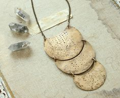 moon child tribal minimal brass long necklace by nearlylost