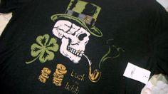 LUCKY BRAND Men T Shirt S  100%  Cotton  Short Sleeve Skull LUCK OF THE IRISH #LuckyBrandAuthentic #GraphicTee