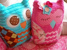 open and closed eyes owl pillows Owl Crafts, Crafts For Kids, Arts And Crafts, Owl Always Love You, Owl Pillows, Burlap Pillows, Decorative Pillows, Owl Bird, Cute Owl
