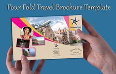 These four-fold brochure templates will help you to promote your business. All are customizable, print-ready & free for personal purpose or commercial use. Travel Brochure Template, Promote Your Business, Free Travel, Design Desk, Company Logo, Templates, Cover, Stencils, Vorlage