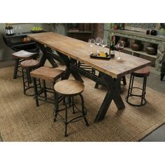 Farm Style High Top Pub Table Dining Harvest By ExoticSeaGlass For - High top farm table