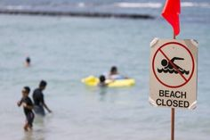 """2015-8-25 - Sewage spill closes beach at Waikiki (And yet there are still people swimming...) According to Chevy Cavalier, a meteorologist at the Central Pacific Hurricane Center, """"It's an above-average year already, and we're still just in August.""""  (Hmmm.. wonder if climate crisis could be playing a part in this?)"""