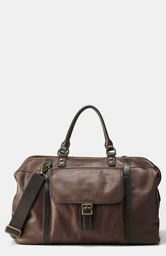 abb2cff220a5 Fossil  Estate  Framed Leather Duffel Fossil Bags