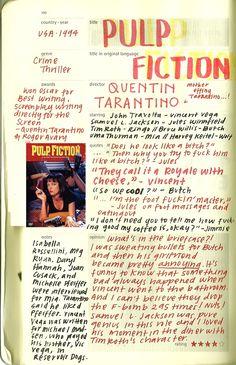 "Quentin Tarantino's ""Pulp Fiction"", 1994. #journal #poster"