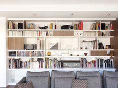 rénovation appartement paris 14 - bibliothèque sur mesure
