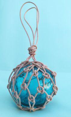 Beach Decor Blue Fishing Float