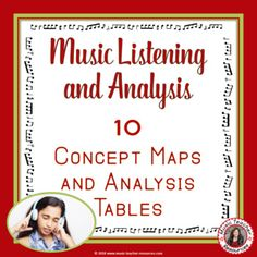 music lessons  |  Music Listening Analysis Concept Maps and Tables for Your Music Appreciation Lessons .   #musiceducation