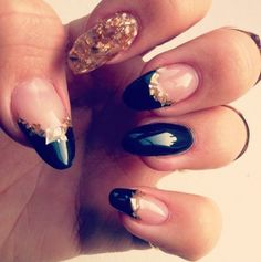 #nails #claws #gold #flakes #love