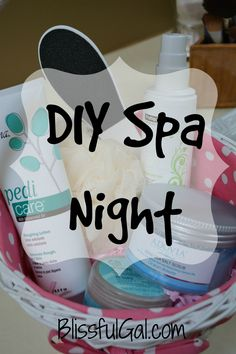 Have a DIY Spa Night in your own home!! Save money and relax at home... what's better than that?!