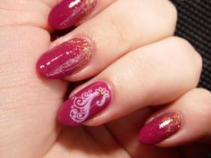 Baza: Silcare The Garden of Colour 23 Glitter: MIYO GLITZY GOLD