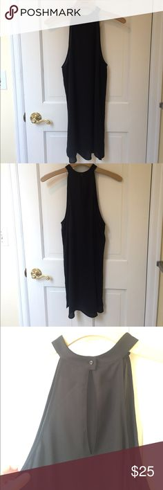 Valette high neck black dress Simple black dress! Falls to a few inches above the knees. High neck. Worn once, no flaws. Simple and classy. Valette Dresses Mini