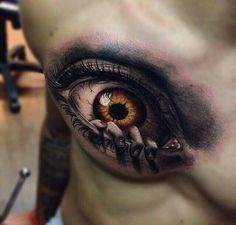Billedresultat for tattoo Scary Tattoos, Badass Tattoos, Mom Tattoos, Body Art Tattoos, Sleeve Tattoos, Tattoos For Guys, Tatoos, Tattoo Life, Realistic Eye Tattoo