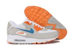 Nike Air Max 90 Damen Schuhe Orange/Weiß/Blau