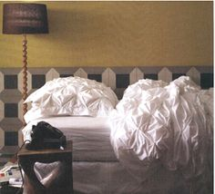 Living on the Chic: DIY Pin Tucked Duvet Cover