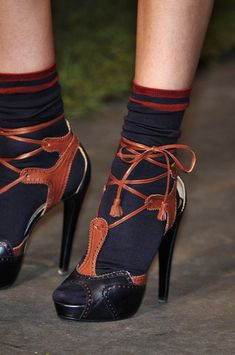 Hermès Spring 2010 - Details - I never thought the day would actually come when I would like black socks.