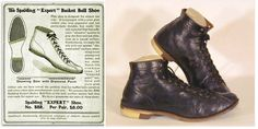 """In 1904 Spalding offers the """"Expert"""" basketball shoe with diamond point rubber soles or better known as """"Gum Bottoms""""."""