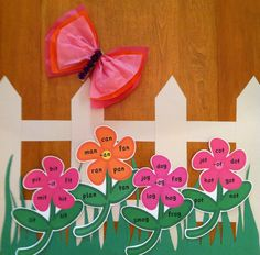 We could create word family flowers for spring by adding petals to our circle maps and the students can write the words themselves.