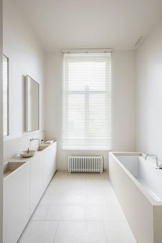 Connecticut Bon Vivant minimal bathroom with large window