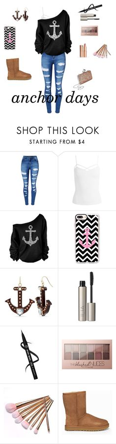 """""""anchor"""" by kylie-schmuckel ❤ liked on Polyvore featuring WithChic, Sans Souci, Casetify, Betsey Johnson, Ilia, Maybelline, UGG, Miss Selfridge, hairtrend and rainbowhair"""