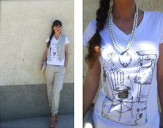 #whitetshirt #girls #fashionblogger #inspiration #style #summer #trend #sporty #streetstyle #shoes #wedges #tshrit  #fairytales, #outfit #clothing #amanda marzolini #fashionblogger #thefashionamy  #accessories #grumpyninja    fairytale tshirt fiabe, fashion blogger capsule collection , the fashionamy, amanda marzolini, grumpyninja, idee outfit con t shirt gilet collana e chinos, gioseppe, streetstyle blog parma,