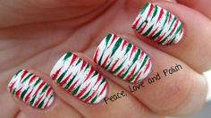 Peace, Love and Polish: Crazy Christmas Colored Stripes!