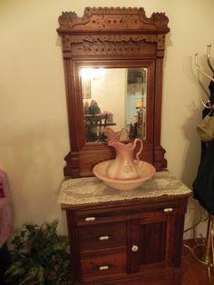 Rare Antique Gentleman S Dresser W Beveled Mirror 1800 S
