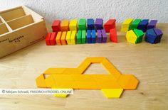 Spiegaben - Legespiel Holz geometrische Formen - Auto