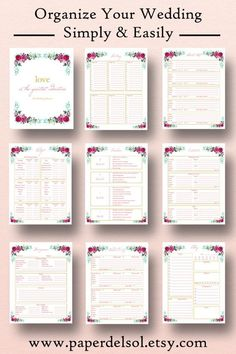 Wedding planner book wedding planner printable use these printable wedding planner wedding planner printable use these printable wedding planner pages in your diy wedding binder or wedding planning book junglespirit Choice Image