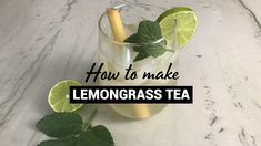 Though this refreshing drink doesn't use any tea leaves, we love the mild lemony flavor. It's perfect for a hot day and the mint or basil leaves are a great addition! Lemongrass Recipes, Tamarindo, Herbal Tea, Veggie Recipes, Healthy Recipes, Natural Remedies For Allergies, Iced Tea Recipes, Citronella, Kitchens