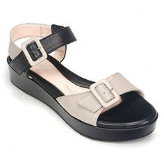 BeautiFeel Women's Jo Wedge Sandal,Black/Stone Leather,39 EU/8-8.5 M US -- Continue to the product at the image link.
