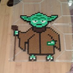 Yoda Star Wars perler beads by Eleka Peka