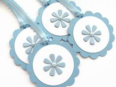 Blue Baby Shower Favor Tags Baby Girl or Boy  by SassyScrapsCrafts