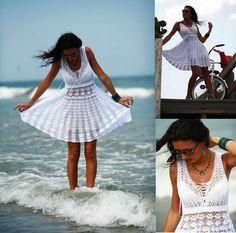 (4) Name: 'Crocheting : Free summer crochet dress