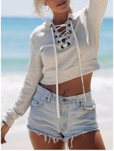 http://www.withchic.com/gray-lace-up-front-eyelet-detail-crop-sweatshirt/