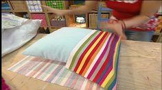Bastelanleitung: Kissenbezüge ohne Reißverschluss oder Druckknöpfe nähen...