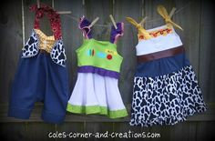 I'll have to make the Buzz and Jessie dress for Mary for our next Disneyland visit.
