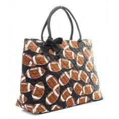 Quilted Football Overnight Bag www.xpressionsbydominique.com #xpressionsbydominique #bags