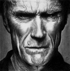 Clint Eastwood.  Rick-Kills-Pencils on deviantART